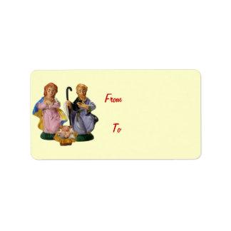 Crib Figurines Gift Label