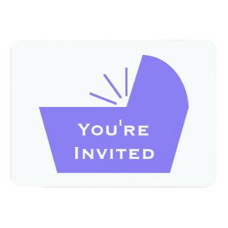 "Crib Icon Baby Shower 5"" X 7"" Invitation Card"