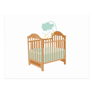 Crib with Sky Mobile Postcard