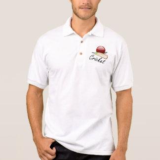 Cricket Ball and Bat Polo Shirt