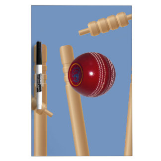 Cricket Ball And Stumps, Dry Erase Board