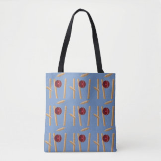 Cricket Ball And Stumps Pattern, Tote Bag