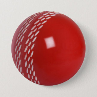 Cricket Ball Badge 3 Inch Round Button
