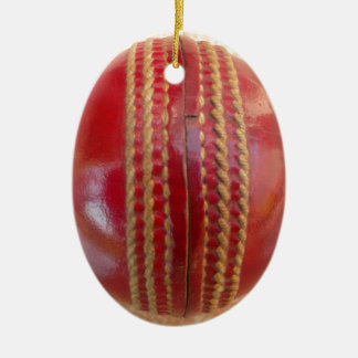 Cricket Ball. Ceramic Ornament