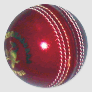 Cricket Ball Classic Round Sticker