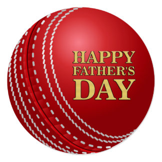 Cricket Ball Father's Day Party Invitations