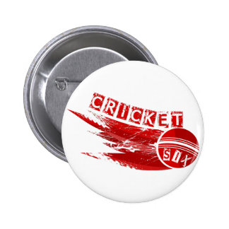 Cricket Ball Hit For Six 2 Inch Round Button