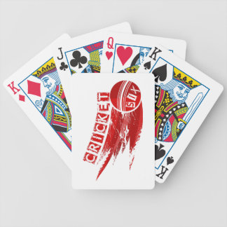 Cricket Ball Hit For Six Bicycle Playing Cards