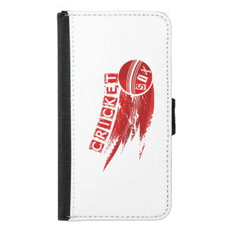Cricket Ball Hit For Six Samsung Galaxy S5 Wallet Case