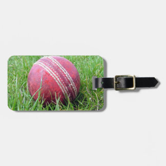 Cricket Ball Luggage Tag