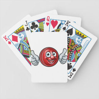 Cricket Ball Mascot Bicycle Playing Cards