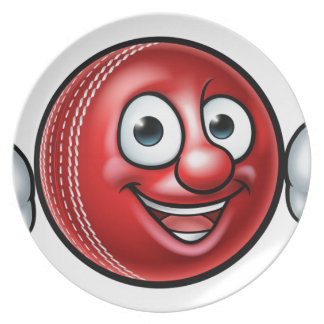 Cricket Ball Mascot Plate
