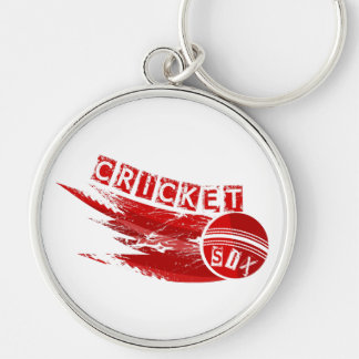 Cricket Ball Sixer Keychain