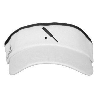 Cricket Bat and Ball in Silhouette Graphic Visor