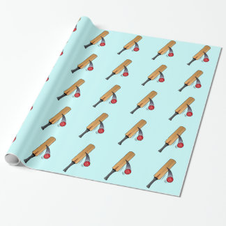 Cricket Bat and Ball Wrapping Paper