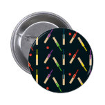 Cricket Bats and Balls Button Badge