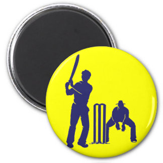 CRICKET BATTER AND REF MAGNET