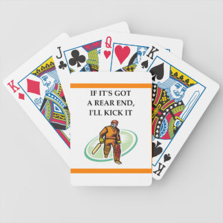 cricket bicycle playing cards