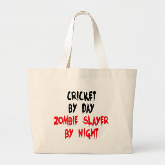 Cricket by Day Zombie Slayer by Night Large Tote Bag