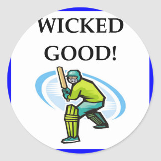 cricket classic round sticker