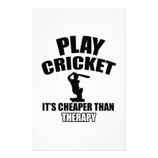 cricket   design custom stationery