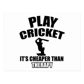 cricket   design postcard