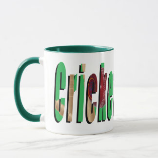 Cricket Game Logo, Green Combo Coffee Mug. Mug