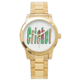 Cricket Game Logo, Large Unisex Gold Watch