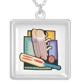 Cricket Gear Silver Plated Necklace