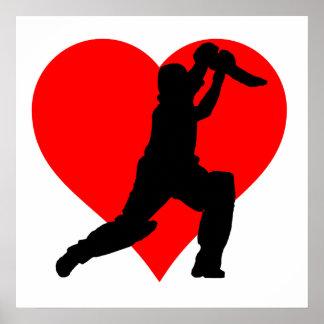 Cricket Heart Poster
