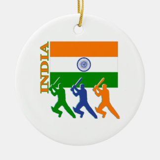 Cricket India Ceramic Ornament