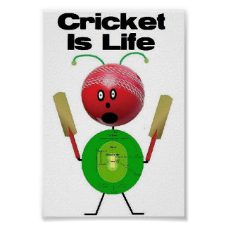 Cricket is Life Poster
