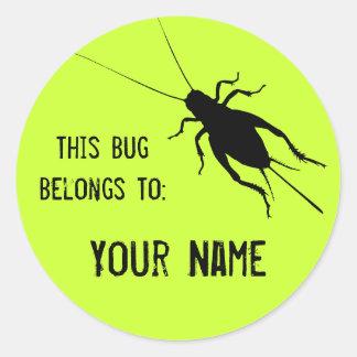 Cricket Label Sticker
