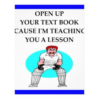cricket letterhead