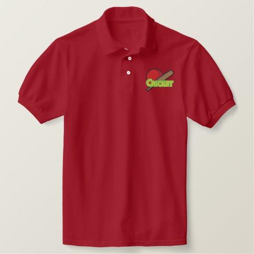 Cricket Logo Embroidered Polo Shirt