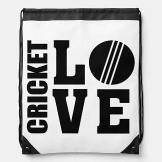 Cricket love, Cricket Drawstring Bag