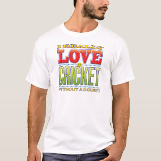 Cricket Love Face T-Shirt
