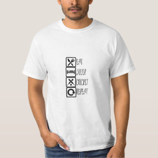 Cricket Lover's Men T-shirt - Eat, Sleep, Cricket