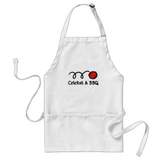 Cricket party BBQ apron | customizable text