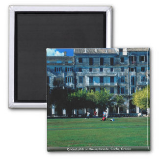Cricket pitch on the esplanade, Corfu, Greece Magnet