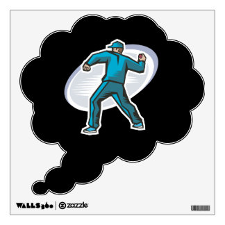 Cricket Pitcher Wall Decal