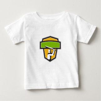 Cricket Player Batting Crest Retro Baby T-Shirt