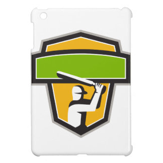 Cricket Player Batting Crest Retro Case For The iPad Mini