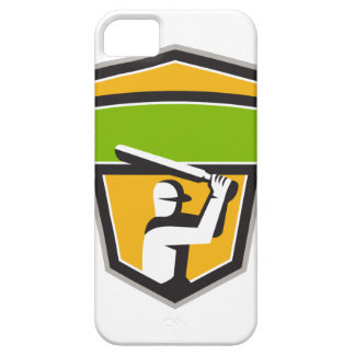 Cricket Player Batting Crest Retro iPhone 5 Case