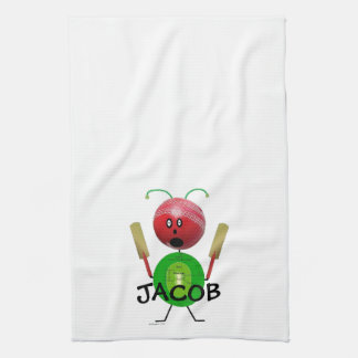Cricket Player Kitchen Towel