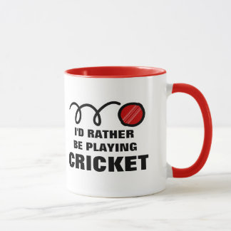 Cricket player mug with funny quote