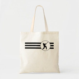 Cricket Player Stripes Tote Bag