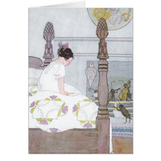 Cricket Serenade Girl in Bedroom Card
