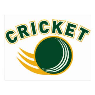 cricket sports ball flying postcard
