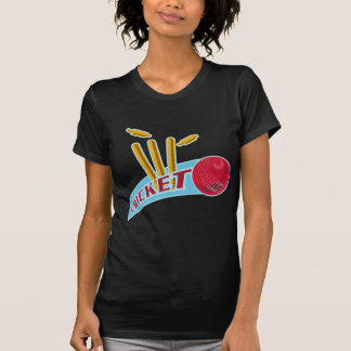 cricket sports ball wicket t shirt